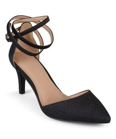 Black Ankle-Strap Luela Pump