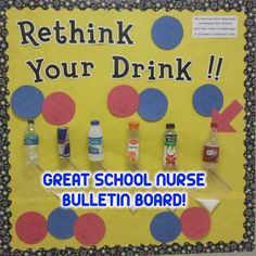 Another great school nurse bulletin board seen on Pinterest. Too bad there is no link back to original poster so we can give credit where credit is due1 #schoolnurse #schoolnursing