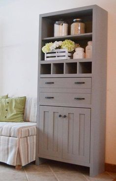 4 Easy Steps For Developing A Sunroom Ana White Build A Tall Secretary Cabinet With Mail Slots Free And Easy Diy Project And Furniture Plans Dog Crate Furniture, Diy Furniture Plans, Furniture Projects, Painted Furniture, Building Furniture, Furniture Design, Furniture Movers, Barbie Furniture, Cheap Furniture