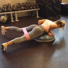 Fitness Motivation : Illustration Description superset: lying leg abductions – 12 reps into single leg thrusts – 8 per leg -Read More –
