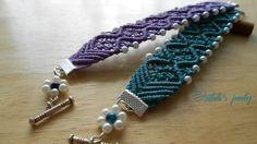 Izabela craftwork (KnotsARTbeads): Double wave macrame bracelets