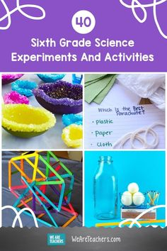 Your sixth grade science students will love making naked eggs, turning milk into plastic, levitating a ping pong ball, and more. Try them out now! 6th Grade Science Projects, Sixth Grade Science, Science Student, Science Fair, Science Lessons, Steve Spangler Science, Brain Craft, Chemistry Experiments, Building For Kids
