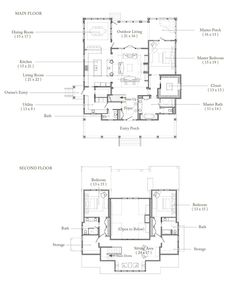 Palmetto Bluff + Floor Plan, helps to plan out somewhat of the house I wany Best House Plans, Dream House Plans, House Floor Plans, Home Design Plans, Plan Design, Build Your House, Building A House, Simple Floor Plans, Villa Plan