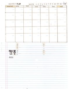 """Free Printable DIY planner templates:  daily record  • goals & ideas  • graph with notes  • monthly plan  • to-do with notes  • to-do with graph paper  (Size: Letter - 8.5"""" by 11"""")"""