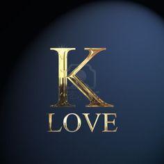 Gold alphabet letter K word love on a blue background Letter K Words, K Letter Images, Alphabet Images, Alphabet Letters, Letter K Design, Alphabet Design, Alphabet Wallpaper, Name Wallpaper, K Names