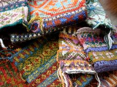 Make Fair Isle samples using up bits and pieces of leftover yarn...make cup cozies.