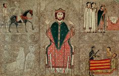 Altar frontal from the Church of Saint Martin, Chia, Spain, depicting Saint Martin of Tours and four scenes from his life, 1150-1200 (temper...