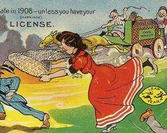 Vintage Leap Year Postcard ....Desperate Woman.