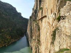 Caminito del Rey chemin le plus dangereux du monde 2   Caminito del Rey: le chemin le plus dangereux du monde?   record du monde photo image...