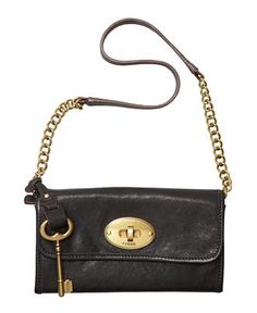 Mason Clutch with Gold Key (Fossil via Macy's) $108.00 #Purse
