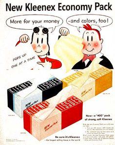 1955 Kleenex Tissues #004111 #LittleLulu #Tubby