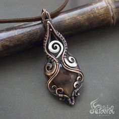 Wire Wrapped Necklace, Wire Wrapped Pendant, Wire Wrapping Crystals, Metal Jewelry, Jewelry Box, Crystal Pendant, Sterling Silver Pendants, Copper Wire, Wire Binding