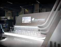 Stand exhibition for Aluprof Polyclose 2016 on Behance Beauty Exhibition, Exhibition Stand Design, Exhibition Display, Exhibition Space, Hotel Lobby Design, Stage Design, Architecture Design, Design Inspiration, Design Ideas