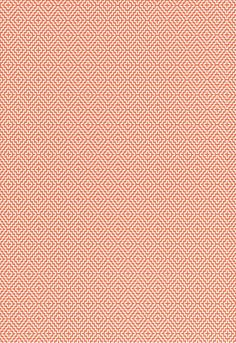 Wallcovering / Wallpaper | Soho Diamond in Persimmon | Schumacher