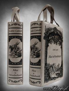 Grey handbag BOOK ALICE IN WONDERLAND Gothic Lolita Bag A4 | BAGS | Restyle.pl