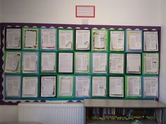 Progress wall - I put their best work up on top of the last to see their progress over the year!
