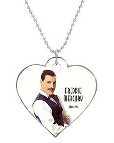 Elsie Gordon Freddie Mercury Queen Custom Personalized Heart Dog Tag Durable cat tag and Pet Tags for Your Dogs Cat Tags, Dog Id Tags, Freddie Mercury, Dog Tag Necklace, Image Link, Queen, Note, Amazon, Heart