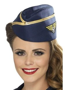 Smiffy's Air Hostess Hat (Blue/ Gold) Smiffy's http://www.amazon.co.uk/dp/B00AZGMOLW/ref=cm_sw_r_pi_dp_N-rRvb1GC14ZY