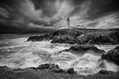 On the rocks Fanad - The iconic lighthouse at Fanad head, Donegal, Ireland Landscaping With Rocks, Landscaping Ideas, Before After Photo, Black N White Images, Donegal, Unique Lighting, The Rock, Black And White Photography, Lighthouse