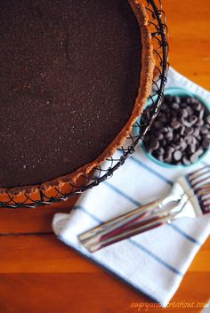 Chocolate Tart with Quinoa & Almond Crust ~ dairy free & gluten free