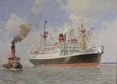 Another painting of RMS Newfoundland of Furness Withy by Stephen J Chard