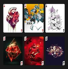 Online design resource Digital Abstracts is putting together a project titled 'Creative Cards' where they invited artists and illustrators. Design Art, Print Design, Graphic Design, Paper Design, Unique Playing Cards, Creative Artwork, Deck Of Cards, Card Deck, Artist Trading Cards
