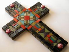Southwestern Mosaic Cross Original Art by TheMosartStudio on Etsy