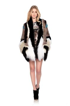 For #fur with an edge try the Faithful fur coat by #JustCavalli for £315.  #trend @Wish Want Wear