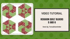 This is a tutorial for 2 hexagon quilt blocks made out of 6 equilateral triangles. This is an easy quilt block. Blog post: https://mypatchwork.wordpress.com/...