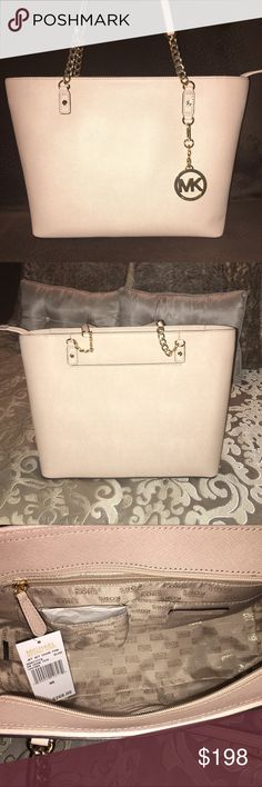 NWT Michael Kors Jet Set Chain Tote Blush Michael Kors Jet Set Chain Blush Tote, brand new with tags! More pics available. Sold out Everywhere online & in stores!! Originally $268 Michael Kors Bags