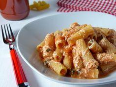 Pasta con pomodoro e ricotta - Nudeln mit Tomaten-Ricotta-Sauce