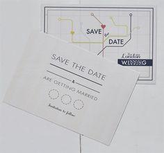 London Underground tube inspired wedding stationery
