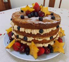 Naked Cake de Nozes - Na Biroskinha