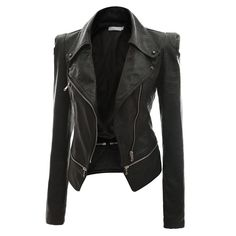 Vegan Short Slim Coat Zipper  This super sexy vegan short slim jacket is perfect for spring. It has fault zipper to make it rockier. And you also have a zipper on the front and a faulty one as the conclusion of the jacket. Also, you will find some small rivet on the collar. Toemphasize your bad-girl touch. The PU jacket is available in black and beige. The jacket looks foxy with jeans and a cool boot!