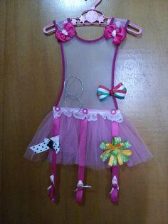 Hair bow and earrings holder - tutu porta lazos, cintillos y zarcillos
