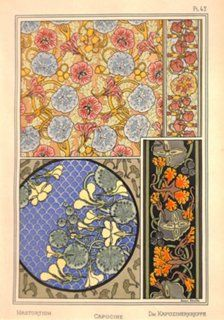 French Art Nouveau Nasturtium, 1896