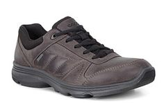 Ecco Shoes for men - Ecco Light IV GTX Waterproof Mens Lace Up Casual Shoe #Leather #Nubuck #Mens #Shoes #Waterproof #Lace #Walking #outdoors Size 41, 42, 43, 44, 45, 46