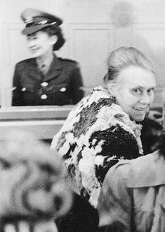Defendant Nurse Elisabeth Marschall at trial against guards and wardens of the women's concentration camp Ravensbrück in the Curio house in Hamburg- January 1947 Nuremberg Trials, Fight For Freedom, War Of 1812, Korean War, American War, Vietnam War, World War Two, Wwii, County Jail