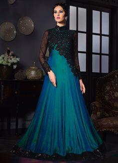 Ethnic Salwar kameez Indian Anarkali Dress Designer Bollywood Pakistani K VPL 03 Silk Evening Gown, Silk Gown, Satin Gown, Silk Satin, Red Silk, Designer Gowns, Indian Designer Wear, Indian Anarkali Dresses, Long Anarkali