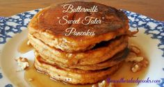 This recipe for Buttermilk Sweet Tater Pancakes is my favorite pancake recipe. If you like sweet potatoes, you will love these.