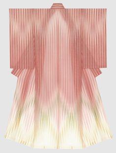 """Tsuchiya Yoshinori, """"lebender Kulturschatz"""", versteht sich auf """"monja"""", eine Art Seidengaze. Seine Kimono wirken transparent und luftig-leicht. / Tsuchiya Yoshinori, """"living national treasure"""" is an expert in making light-weight and almost transparent monja (kind of silk gauze) kimono."""