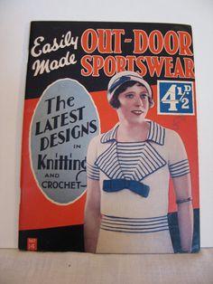 Vintage 1930s Knitting Pattern Book  OutDoor by VioletsEmporium, $28.00