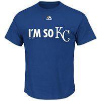 I'm so KC   Mens Kansas City Royals Majestic Royal Blue 2014 MLB Playoffs I'm So ...