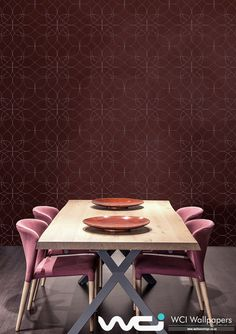 Leading wallpaper supplier & installer in Southern Africa, offering expert advice for small to large scale wall coverings commercial & residential projects. Dining Room Wallpaper, Bespoke Design, Wallpaper Ideas, Ranges, Restaurant, Table, Furniture, Home Decor, Custom Design