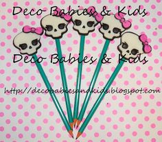 Deco Babies & Kids: Lápices decorados Monster High