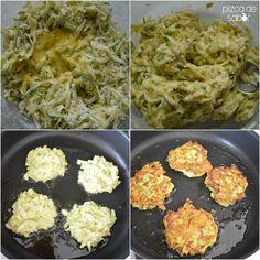 """Una manera de aprovechar las económicas calabacitas, prepara estas tortitas o """"croquetas"""" con queso parmesano, deliciosas y fáciles!"""