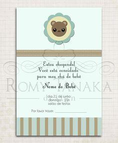 Convite para chá de bebê - Menino