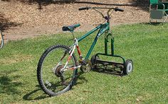 upcycled mowercycle, wonder how fast it can go!