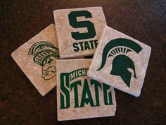 Michigan State Spartans Stone Coasters - SET OF 4…