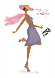 Fabulous Birthday Card - art & fashion illustration cards from Stay Lifted available at www.staylifted.com #stayliftedcards --- http://tipsalud.com -----